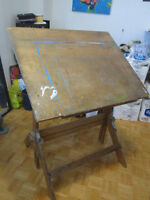 Solid Wood DRAWING TABLE