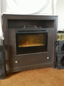 HIGHEST QUALITY BY BUHLER : TV STAND WITH ELECTRIC FIREPLACE