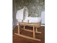 Moses basket & stand - perfect conditon