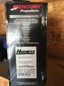 "MERCURY HIGH FIVE STAINLESS STEEL 19"" PITCH BRAND NEW"