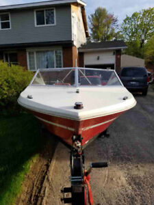 1978 GREW 147 boat, motor, and trailer