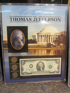 Four Portraits of Thomas Jefferson- Framed Coin Set