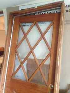 French antique looking Solid wood exterior door