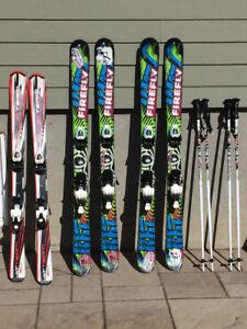 Skis alpin 120cm et 135cm
