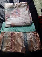 $10 Queen size bed skirt and duvet cover