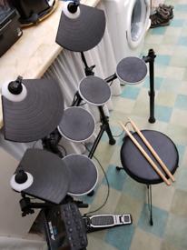 Alesis DM Lite drum set + stool + sticks