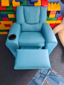 Kids leather armchair