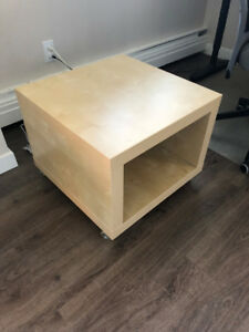 IKEA FOTER side table with wheels