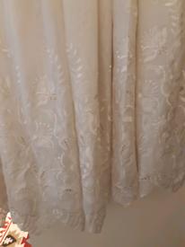 Curtains luxury cream colour