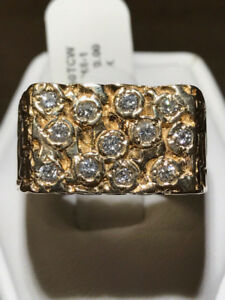 NEW MEN'S DIAMOND NUGGET RING ON SALE 45% OFF NOW