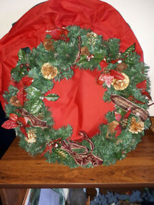 Nice large Christmas wreath with storage bag