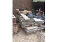 Pallets of block paving