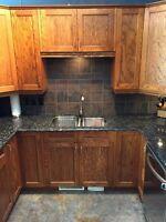 Kitchen cabinets & Granite countertops