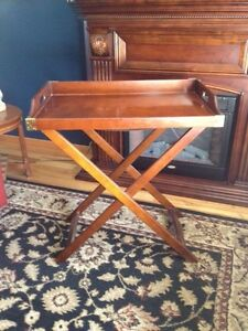 Solid wood Bombay & Co Butler Tray Table London Ontario image 1