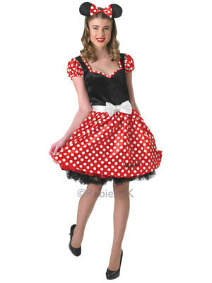 Ladies Cute Sassy Minnie Mouse Fancy Dress Costume Red White Polkadot - Cute Mouse Kostüm