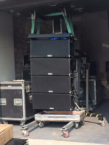 Line Array Electrovoice Nexo customized complète plug and play