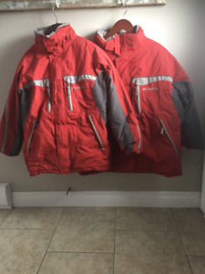 Small and Extra Large Columbia Winter Jackets