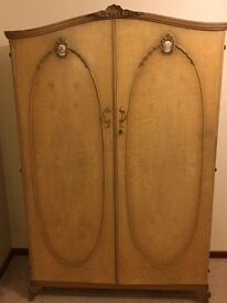 French style reproduction wardrobe.