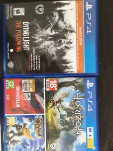 PS4 Games $30
