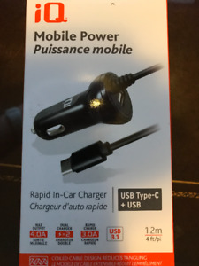 iQ Mobile Power - USB In-Car Rapid Charger - NIB
