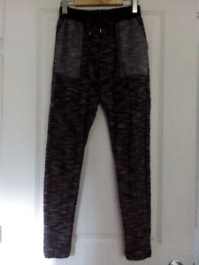 Sparkle & Fade (Urban Outfitters) black n white tight joggers