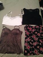 Woman's tank tops and crop tops