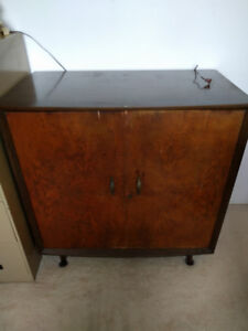 Cedar Armoire/Chest, Full size metal filing cabinet and 1/2 size