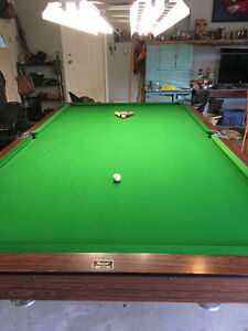 6 x 12 snooker table beautiful shape