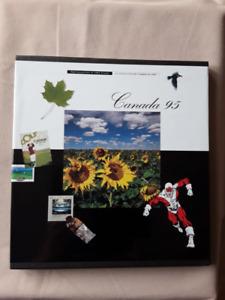 Collection souvenir annuelle timbres 1995 postes canada