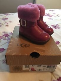 Pink ugg infant size 5. Perfect condition