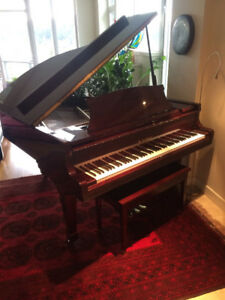 K. Kawai KG 2E mahogany piano and bench