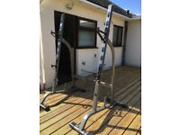 Domyos squat rack weights rack gym