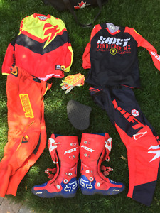 leatt neckbrace and motocross gear