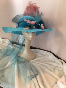 Bridal Wedding Fascinator Hat Veil Victorian Tea Horse Derby