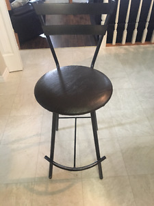 Bar stools- leather seats