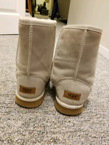 Ugg boots and white leather boots