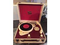 Fantastic, vintage broadcaster gramette record player