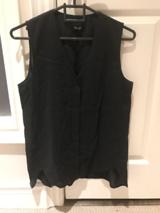 Theory sleeveless black blouse - size small
