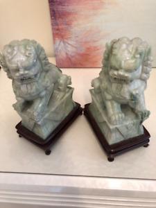Oriental Foo Dogs Soapstone