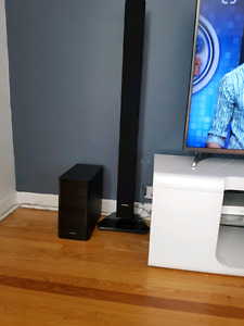 Tv table with Samsung  sound system