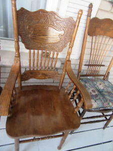PRESSBACK OCCASIONAL CHAIRS