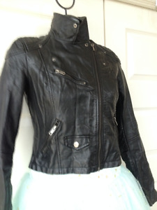 Faux leather jacket small or 36