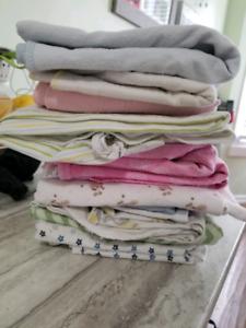 12 receiving blankets