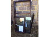 Brown pvc made by crown double glazed