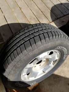 2013 chev 1500 rims and michelin tires 265/70/17