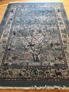 Area Rug, (Gabbeh ) Tree of Life ,  8 x 10. $200. Burlington, ON