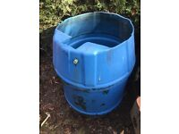 Large plastic barrel for garden water butt