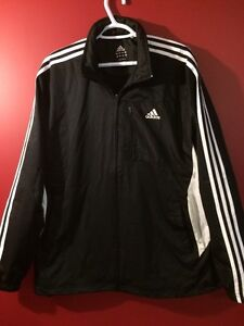 ADIDAS Men's B/W Spring & Fall Jacket - Excellent condition