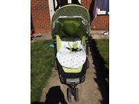 Petite Star Zia pushchair with footmuff for sale