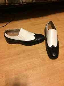 FOR SALE: NEW BLACK AND WHITE DRESS SHOES